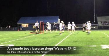Albemarle boys lacrosse drops Western