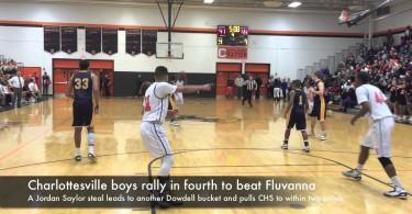 Charlottesville boys rally in fourth to beat Fluvanna