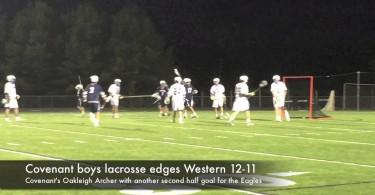 Covenant boys lacrosse edges Western