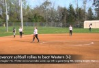 Covenant softball rallies to beat Western 3-2