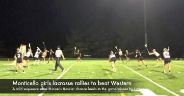 Monticello girls lacrosse rallies past Western