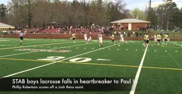 STAB boys lacrosse falls to Paul VI