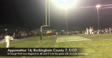 Appomattox edges out Buckingham in overtime