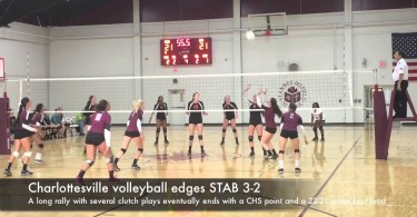 Charlottesville volleyball edges STAB 3-2