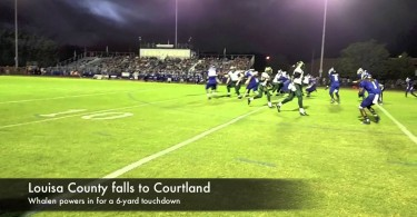 Louisa football falls to Courtland on the road