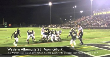 Western football sprints past Monticello