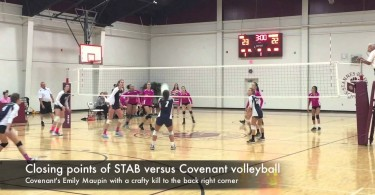 Closing points of STAB versus Covenant volleyball