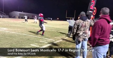 Lord Botetourt beats Monticello 17-7 in Region 3A West