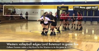 Western volleyball edges Lord Botetourt in game five