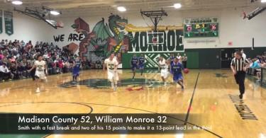Madison boys hoops rolls past Monroe on the road