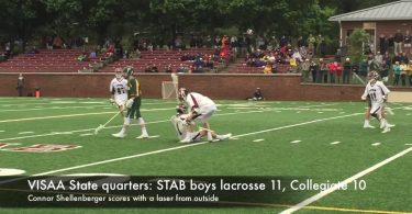 VISAA State quarters:  STAB boys lacrosse 11, Collegiate 10