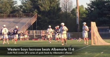 Western boys lacrosse beats Albemarle 11-6