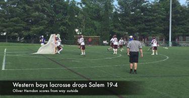 Western boys lacrosse drops Salem 19-4