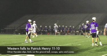 Western boys lacrosse falls to Patrick Henry 11-10