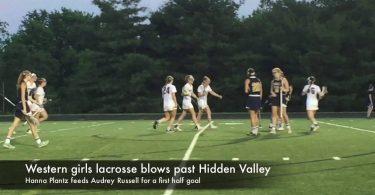 Western girls lacrosse blows past Hidden Valley