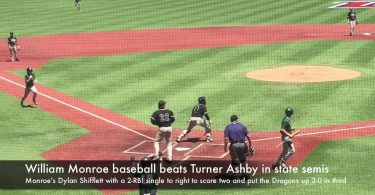 William Monroe baseball beats Turner Ashby in state semis