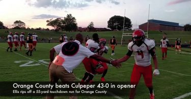 Orange County cruises past Culpeper 43-0 in season opener