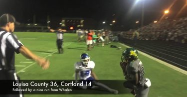 Louisa football rushes past Courtland